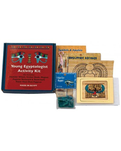 Young Egyptologist Activity Kit at Egyptian Marketplace,  Egyptian Decor Statues, Jewelry & Art - God Statues & Museum Replicas