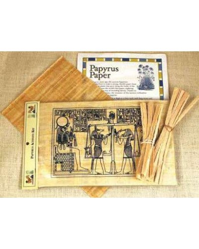 Papyrus Activity Kit at Egyptian Marketplace,  Egyptian Decor Statues, Jewelry & Art - God Statues & Museum Replicas