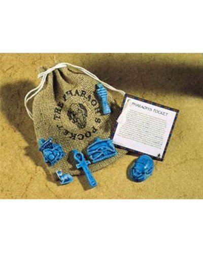 Pharoahs Pocket Amulet Set at Egyptian Marketplace,  Egyptian Decor Statues, Jewelry & Art - God Statues & Museum Replicas
