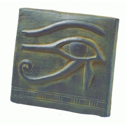 Eye of Horus Small Plaque Egyptian Marketplace  Egyptian Decor Statues, Jewelry & Art - God Statues & Museum Replicas