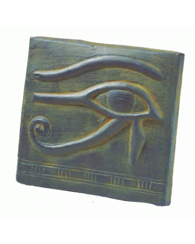 Eye of Horus Small Plaque at Egyptian Marketplace,  Egyptian Decor Statues, Jewelry & Art - God Statues & Museum Replicas