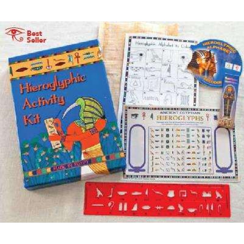 Egyptian Hieroglyphic Activity Kit For Kids Who Love Ancient Egypt