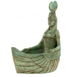 Winged Isis Boat Offering Bowl Egyptian Marketplace  Egyptian Decor Statues, Jewelry & Art - God Statues & Museum Replicas