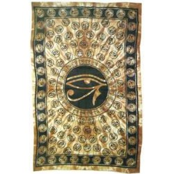 Egyptian Eye of Horus Bedspread - Brown Egyptian Marketplace  Egyptian Decor Statues, Jewelry & Art - God Statues & Museum Replicas
