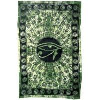 Egyptian Eye of Horus Bedspread - Green