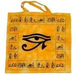 Egyptian Eye of Horus Cotton Tote Bag at Egyptian Marketplace,  Egyptian Decor Statues, Jewelry & Art - God Statues & Museum Replicas
