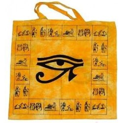 Egyptian Eye of Horus Cotton Tote Bag Egyptian Marketplace  Egyptian Decor Statues, Jewelry & Art - God Statues & Museum Replicas