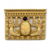 Egyptian Scarab Pectoral Brooch