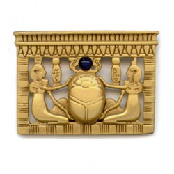 Egyptian Scarab Pectoral Brooch Egyptian Marketplace  Egyptian Decor Statues, Jewelry & Art - God Statues & Museum Replicas