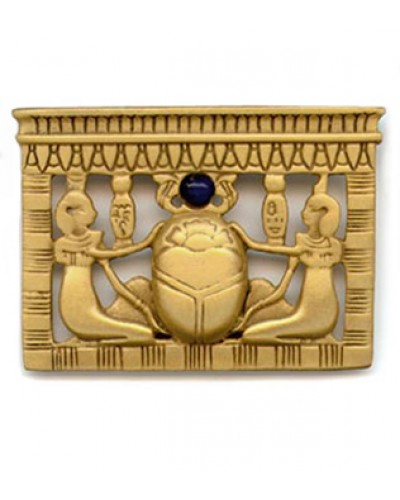 Egyptian Scarab Pectoral Brooch at Egyptian Marketplace,  Egyptian Decor Statues, Jewelry & Art - God Statues & Museum Replicas