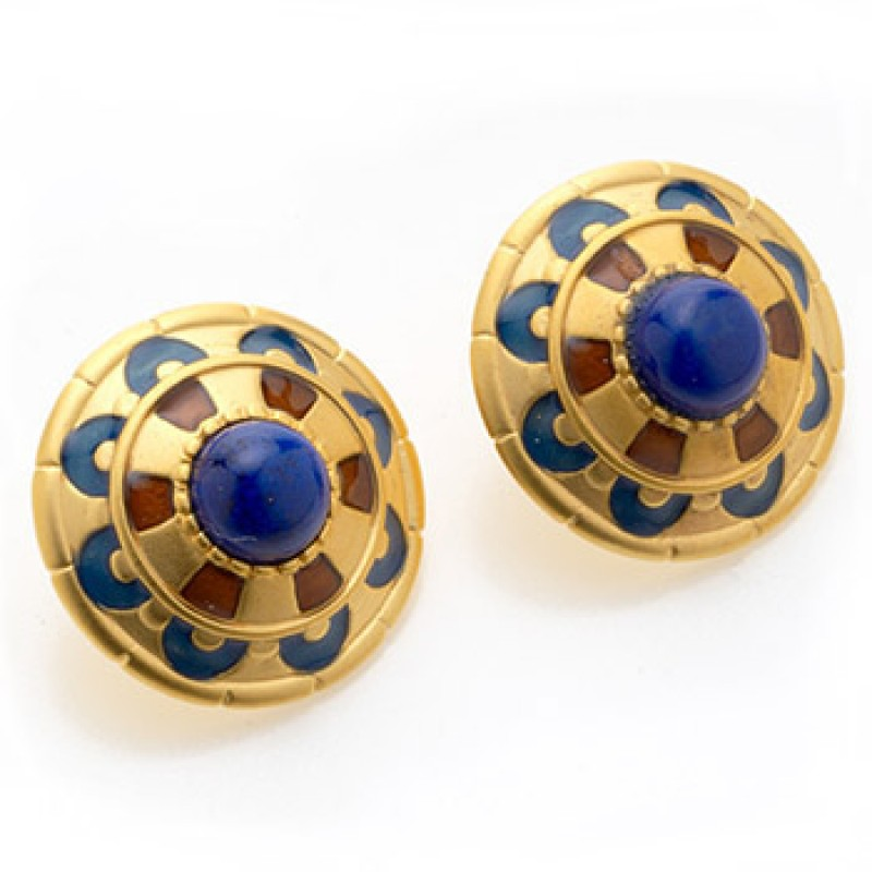 art listing in deco gold lapis lazuli earrings il inspired blue