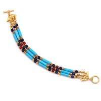 Egyptian Turquoise and Lapis Bracelet