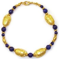 Scarab and Lapis Egyptian Bracelet