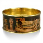 Klimt Cleopatra Egyptian Bangle Bracelet at Egyptian Marketplace,  Egyptian Decor Statues, Jewelry & Art - God Statues & Museum Replicas
