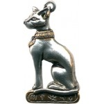 Bast Egyptian Cat Necklace at Egyptian Marketplace,  Egyptian Decor Statues, Jewelry & Art - God Statues & Museum Replicas