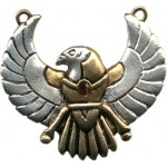 Winged Horus Egyptian Necklace at Egyptian Marketplace,  Egyptian Decor Statues, Jewelry & Art - God Statues & Museum Replicas