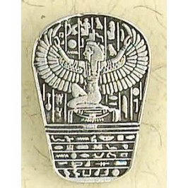 Isis Heiroglyphic Stele Pewter Necklace