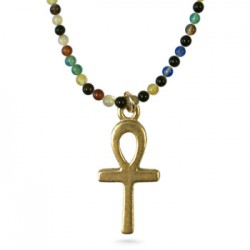 Ankh Charm on Agate Bead Egyptian Necklace Egyptian Marketplace  Egyptian Decor Statues, Jewelry & Art - God Statues & Museum Replicas
