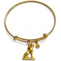 Bast Cat Amulet Slider Bangle Bracelet