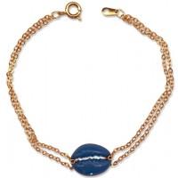 Blue Cowrie Shell Bracelet