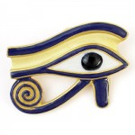 Eye of Horus Brooch/Pendant at Egyptian Marketplace,  Egyptian Decor Statues, Jewelry & Art - God Statues & Museum Replicas