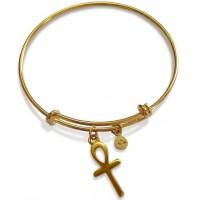 Ankh Charm Slider Bangle Bracelet