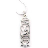 I Love You Egyptian Cartouche Sterling Silver Necklace