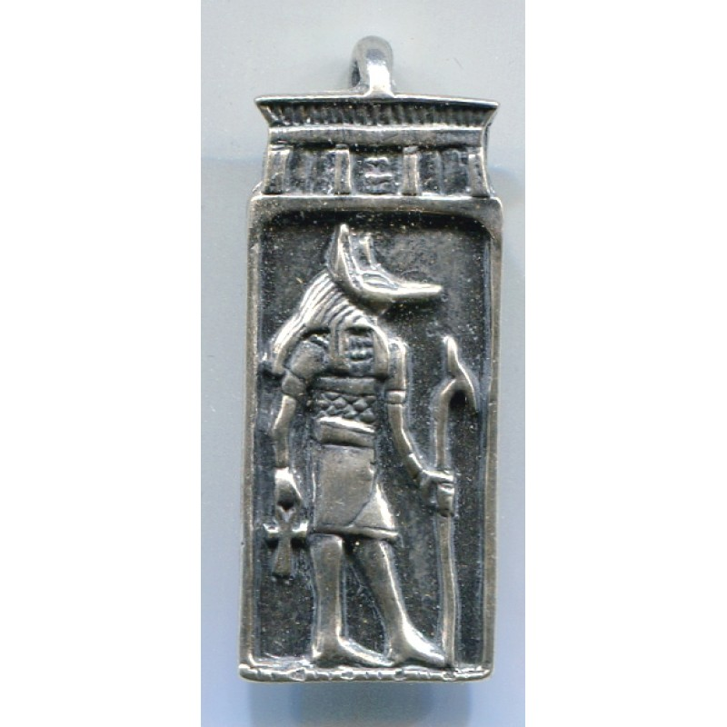 Winged Sekhmet Egyptian Goddess Pendant with Wings in Silver
