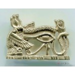 Royal Eye of Horus Pectoral Pendant at Egyptian Marketplace,  Egyptian Decor Statues, Jewelry & Art - God Statues & Museum Replicas