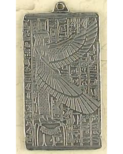 Maat Egyptian Goddess Pewter Necklace at Egyptian Marketplace,  Egyptian Decor Statues, Jewelry & Art - God Statues & Museum Replicas