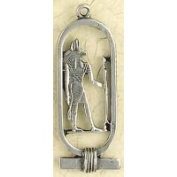 Anubis Cartouche Pewter Necklace