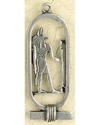 Anubis Cartouche Pewter Necklace