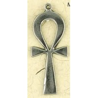 Ankh Plain Pewter Necklace