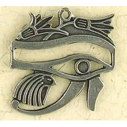 Eye of Horus with Lotus Pewter Necklace Egyptian Marketplace  Egyptian Decor Statues, Jewelry & Art - God Statues & Museum Replicas