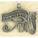Eye of Horus Cobra Pewter Necklace at Egyptian Marketplace,  Egyptian Decor Statues, Jewelry & Art - God Statues & Museum Replicas