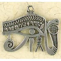 Eye of Horus Cobra Pewter Necklace