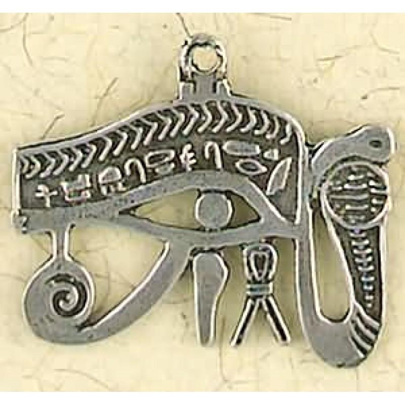 Eye Of Horus Cobra Pewter Necklace Egyptian Jewelry