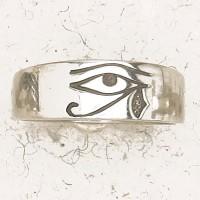 Eye of Horus Pewter Band Ring