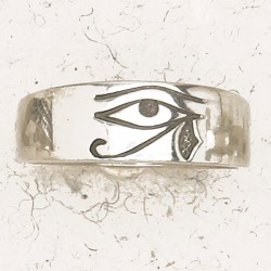 Eye of Horus Pewter Band Ring