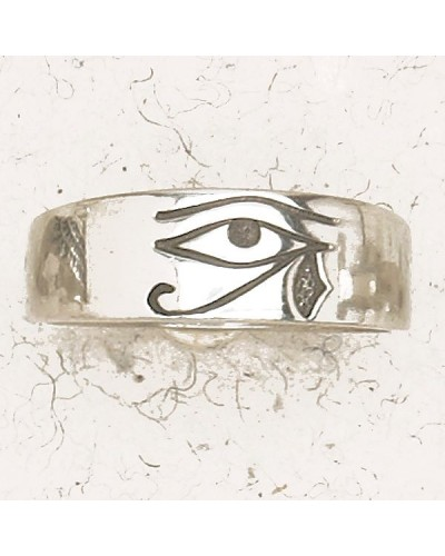 Eye of Horus Pewter Band Ring at Egyptian Marketplace,  Egyptian Decor Statues, Jewelry & Art - God Statues & Museum Replicas