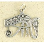 Eye of Horus Cobra Sterling Silver Pendant at Egyptian Marketplace,  Egyptian Decor Statues, Jewelry & Art - God Statues & Museum Replicas