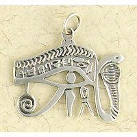 Eye of Horus Cobra Sterling Silver Pendant