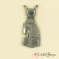 Isis Large Portrait Pewter Necklace Egyptian Marketplace  Egyptian Decor Statues, Jewelry & Art - God Statues & Museum Replicas