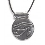 Eye of Horus Disk Pewter Necklace at Egyptian Marketplace,  Egyptian Decor Statues, Jewelry & Art - God Statues & Museum Replicas