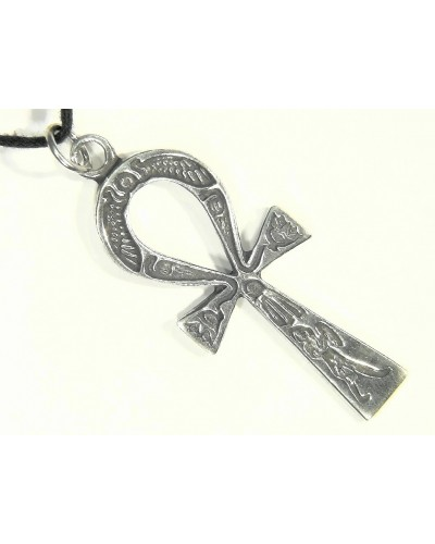 Ankh Inscribed Pewter Necklace at Egyptian Marketplace,  Egyptian Decor Statues, Jewelry & Art - God Statues & Museum Replicas