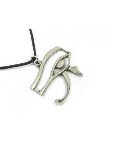Eye of Horus Pewter Necklace at Egyptian Marketplace,  Egyptian Decor Statues, Jewelry & Art - God Statues & Museum Replicas