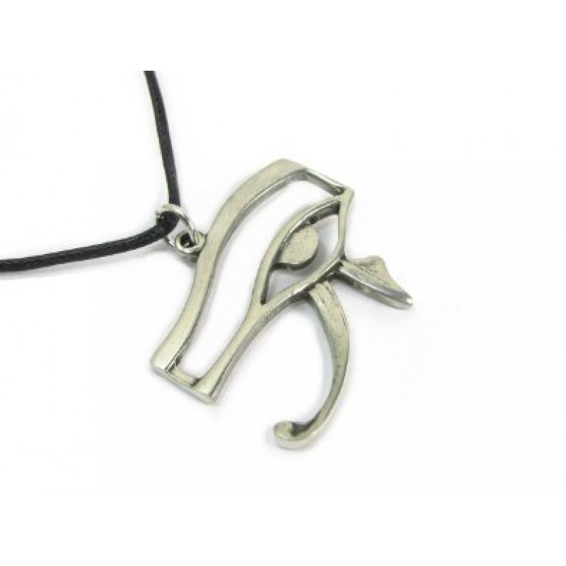 Eye Of Horus Pewter Amulent Pendant Necklace Ancient Egyptian Symbol