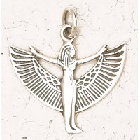 Winged Isis Sterling Silver Pendant