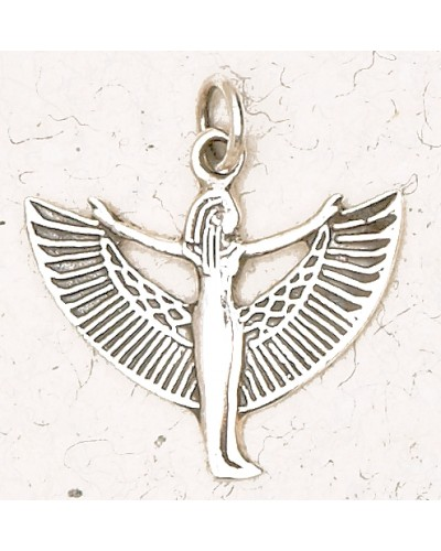 Winged Isis Sterling Silver Pendant at Egyptian Marketplace,  Egyptian Decor Statues, Jewelry & Art - God Statues & Museum Replicas