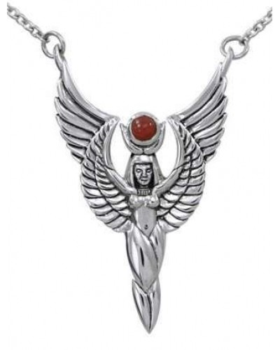 Winged Isis by Oberon Zell Silver or Gold Necklace at Egyptian Marketplace,  Egyptian Decor Statues, Jewelry & Art - God Statues & Museum Replicas